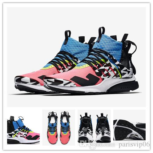5340ce2453ee37 WithBox Air Zapatillas Acronym X Presto Mid Running Shoes Racer Pink ...
