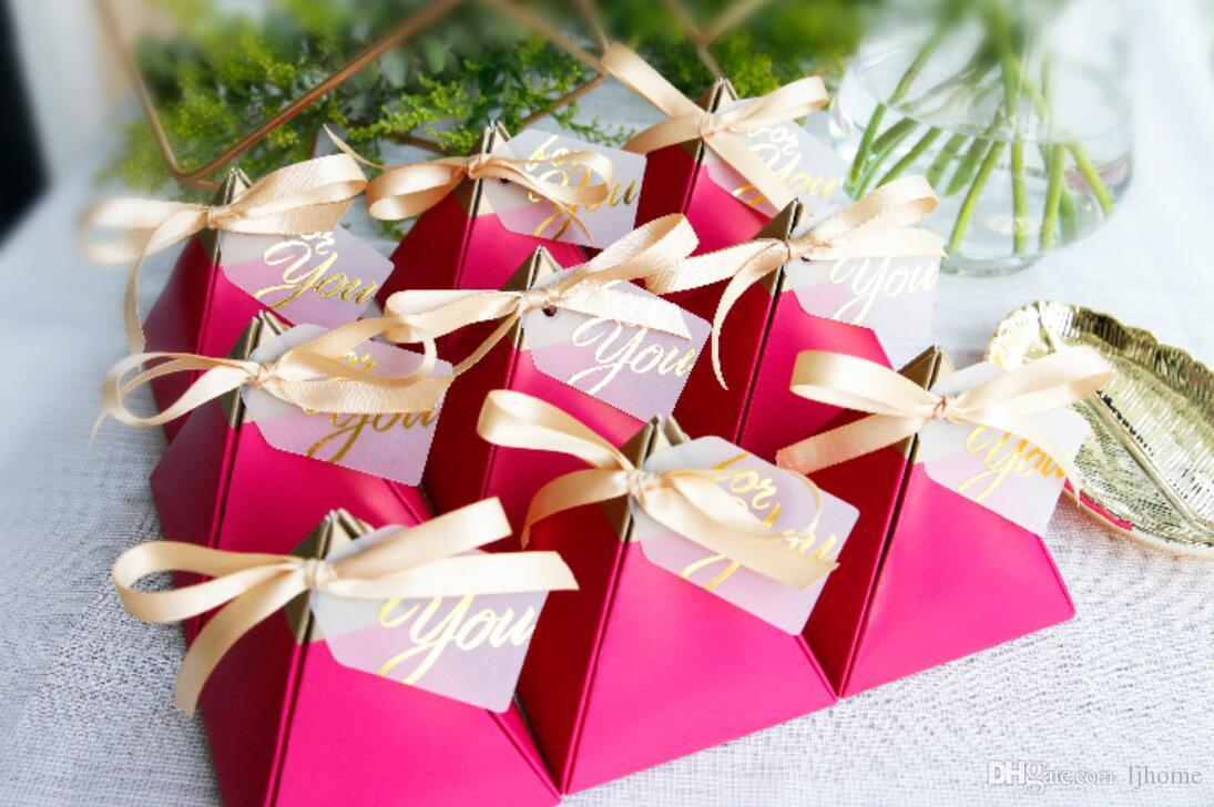 New Creative Rose Red Candy Box Wedding Favors Party Supplies ...