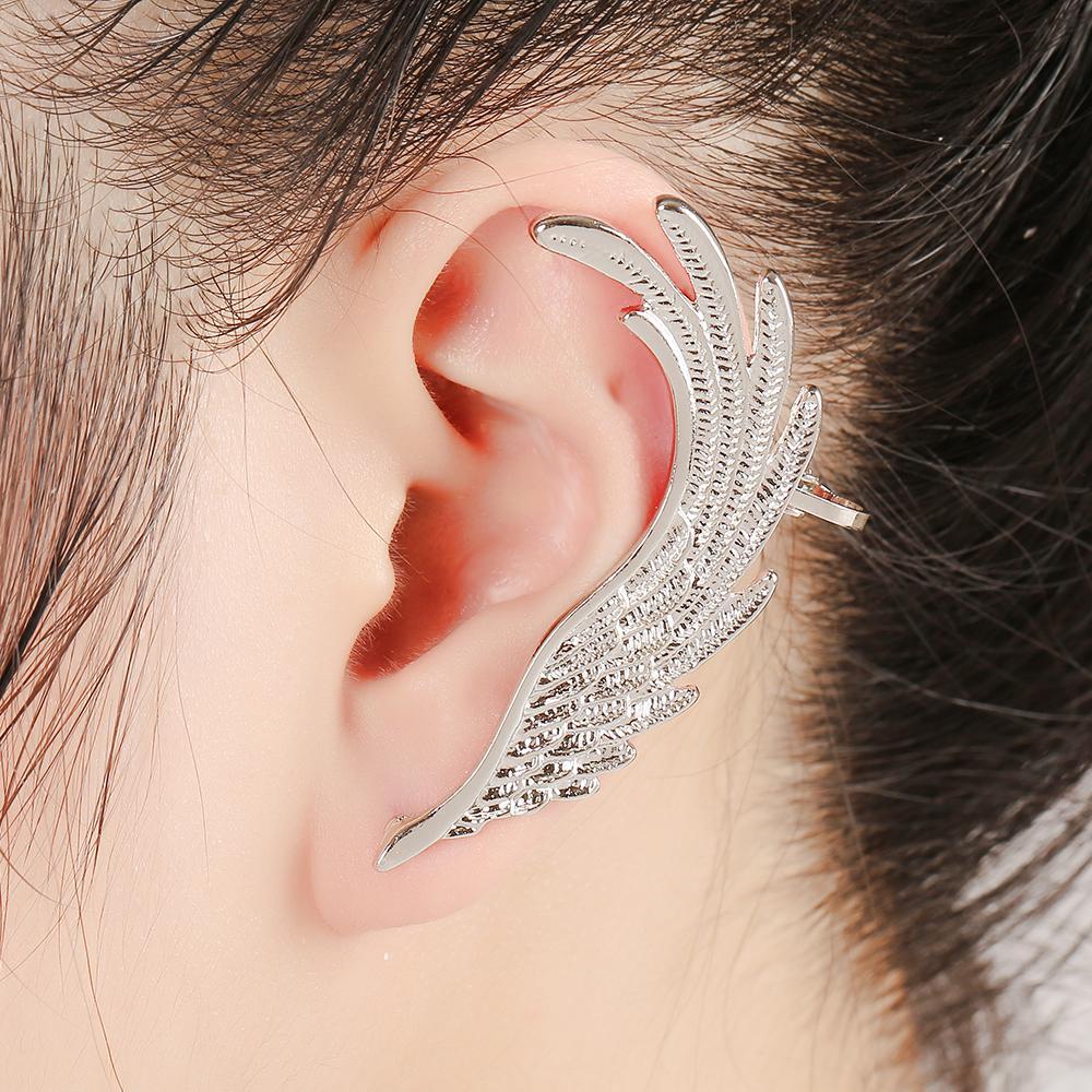 DIDNOT Trendy Angel Wings Left Right Personality Ear Cuff Jewelry Women Gifts Ear Cuffs Clip Earrings FY010