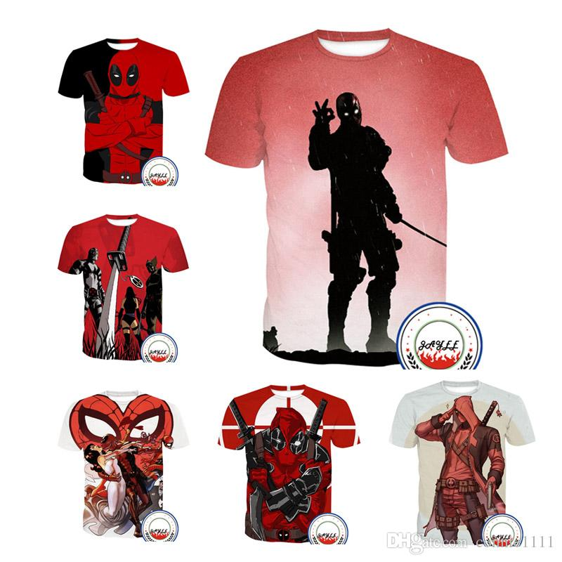 735de336 T Shirt Fashion3D T Shirt Novelty Tshirt Casual Streetwear Men Women Tee  Short Sleeved American Comic Badass Deadpool T Shirts 13 Styles Awesome  Tshirt ...
