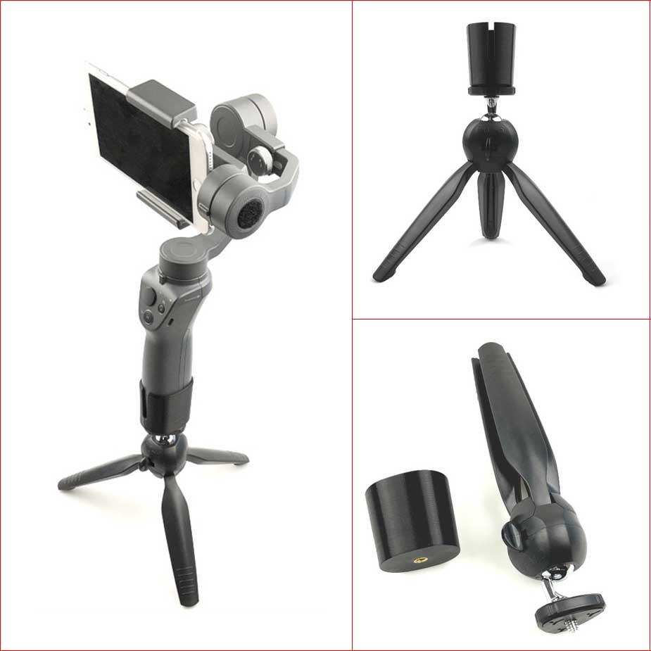 2018 Mini Lightweight Portable Stand Tripod Grip Stabilizer For Dji Osmo Mobile Free Base 1 2 Handheld Gimbal From Chengdaphone010 171