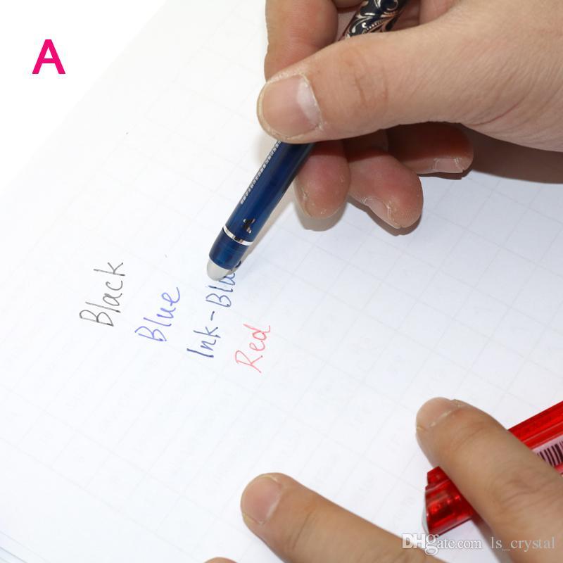 Fancy Erasable Gel Pen und Refills Rot Blau Tinte Blau Schwarz Eine Magische Schreiben Neutral Stift WJ004