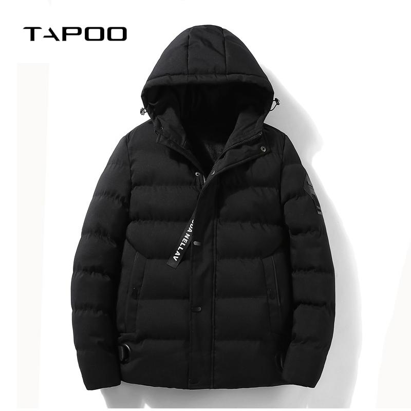 4e0d1e098c292 2019 Winter Jacket Men 2018 New Fashion Warm Coat Cotton Padded Mens Coats  Jackets Brand Hooded Collar Slim Fit Thick Fleece Parkas From Hermanw