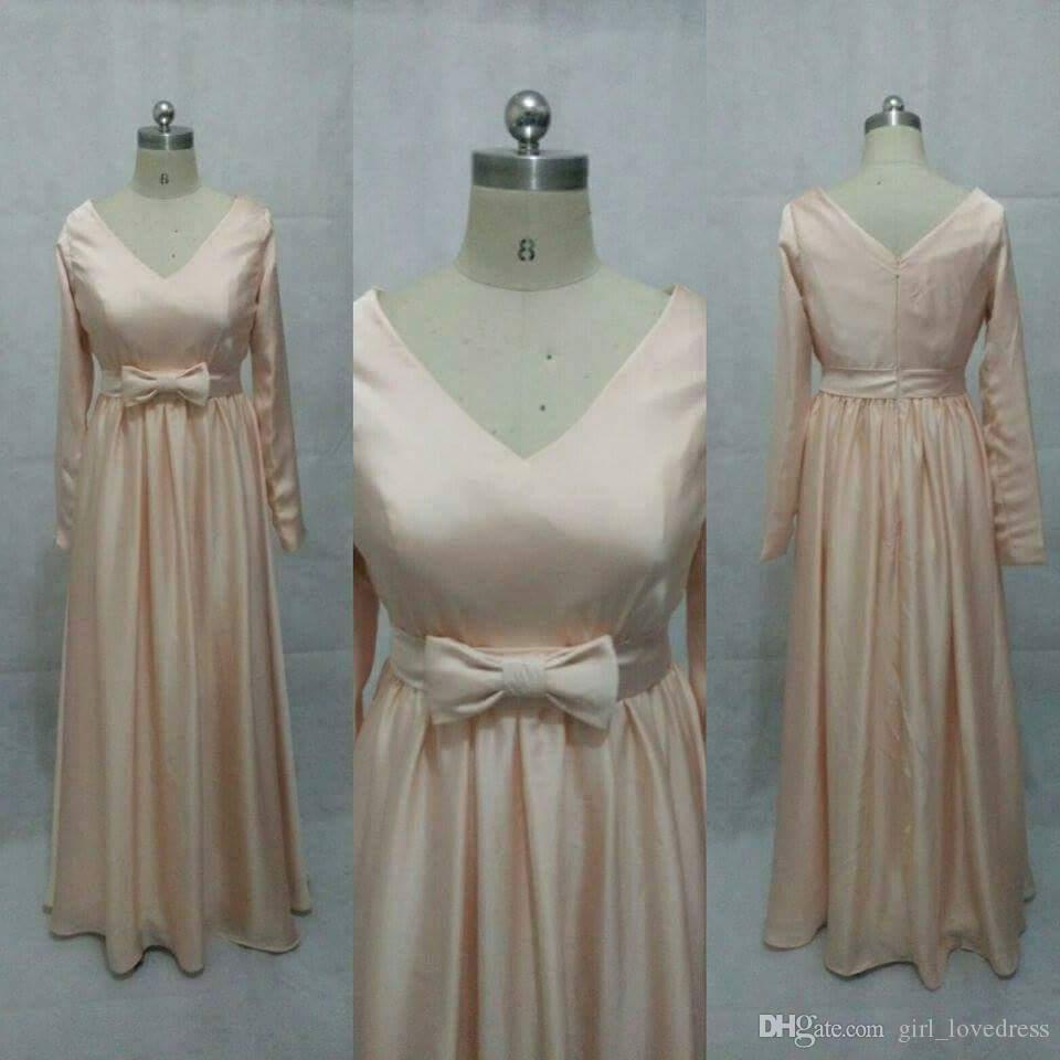 Real Photos Elegant Women A-Line Long Sleeveless Satin Pink Prom Dresses Floor Length Zipper Long V-neck Evening Gowns Custom Made