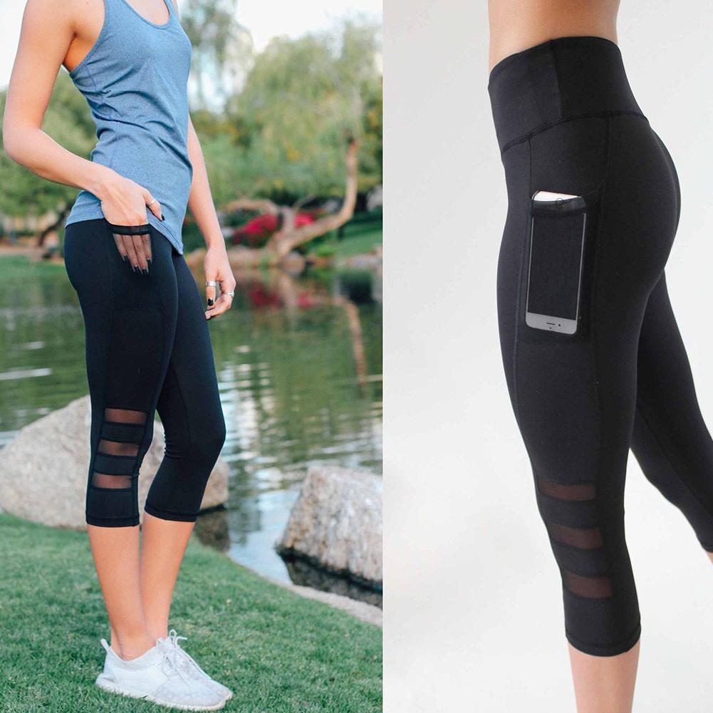 Acheter Veau Pantalon Capri Pant Leggings Sport Femmes Fitness Yoga Gym  Taille Haute Legging Fille Noir Maille 3 4 Yoga Pantalon Femmes De  32.53  Du ... 8ad8b2e573d