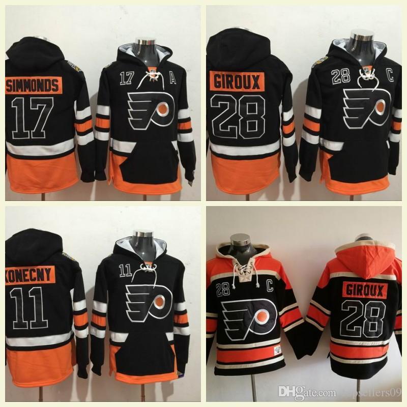 Cheap Cheap Philadelphia Flyers Mens Hoodies 53 Shayne Gostisbehere 9 Ivan  Provorov 28 Claude Giroux Sweatshirts 17 Wayne Simmonds Hockey Hoody bfcb3b703