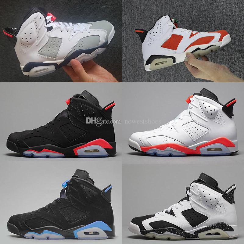 newest 9adb6 54855 Good Quality 6 VI Tinker White Grey Black Red Mens Basketball Shoes 6s J6  White Black Infrared UNC Oreo Sports Sneakers With Box
