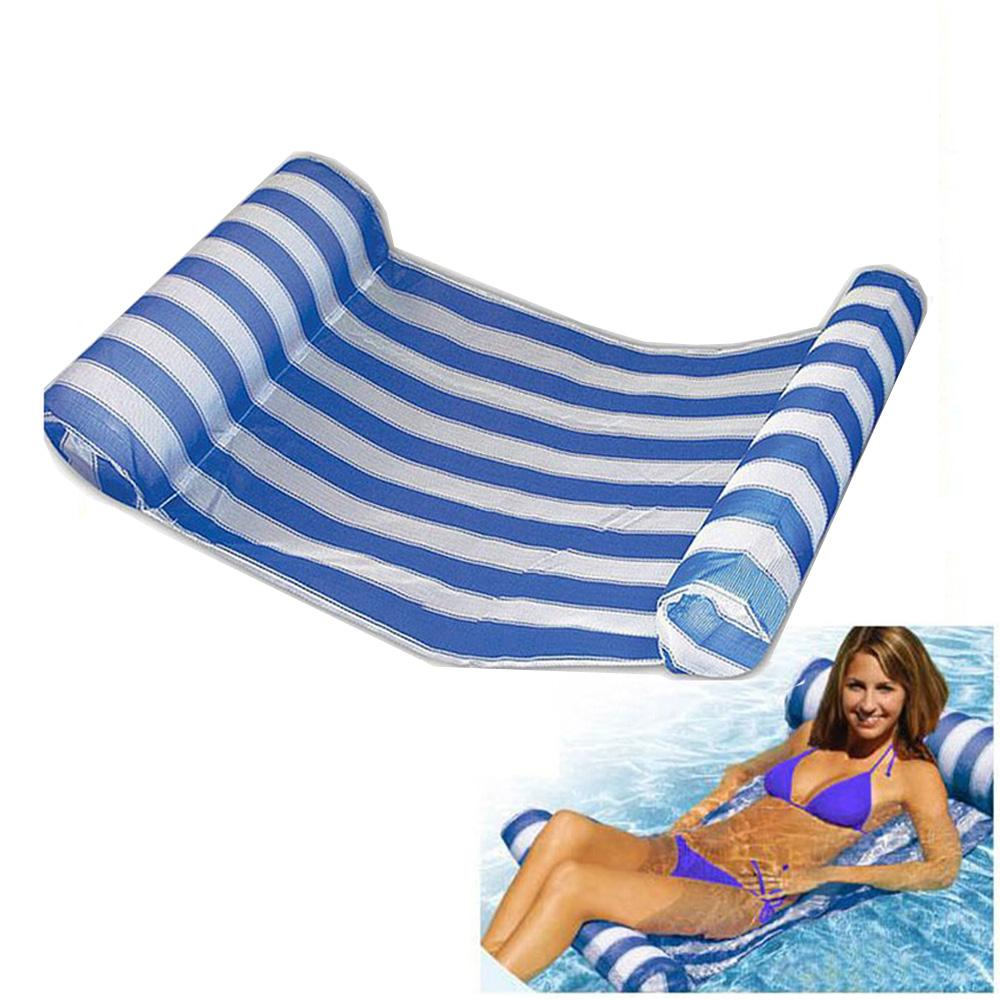 lounger accessories stripe chair floats sleeping hammock bed inflatable float mattress swimming air pool water