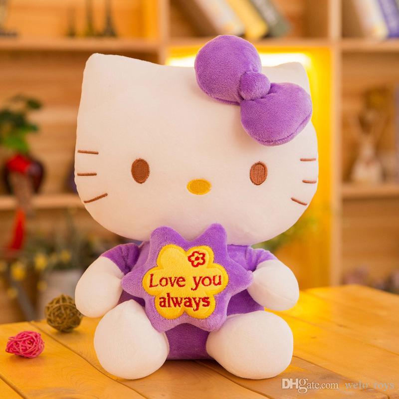20 CM Hallo Kitty Kuscheltiere Puppe Kawaii KT Katze Plüschtiere Anhänger Weiche Katzen Puppen Geschenk für Mädchen Jungen
