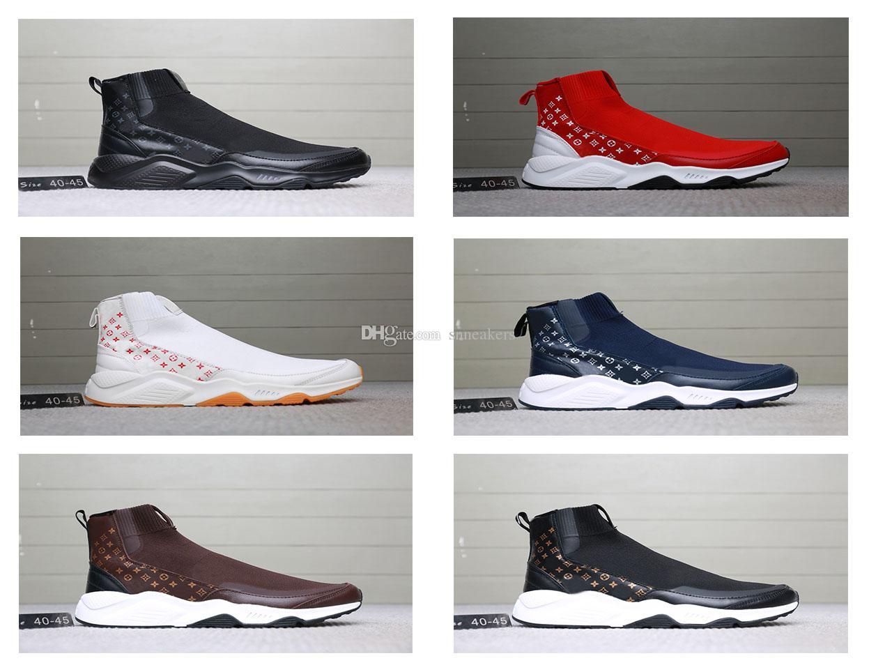 a45e1a7f1f Acquista Louis Vuitton Nike Socks Boots Scarpe Firmate Shoes Nuove Scarpe  Da Uomo Originali Scarpe Casual Leggero Scarpe Da Ginnastica Outdoor  Designer ...