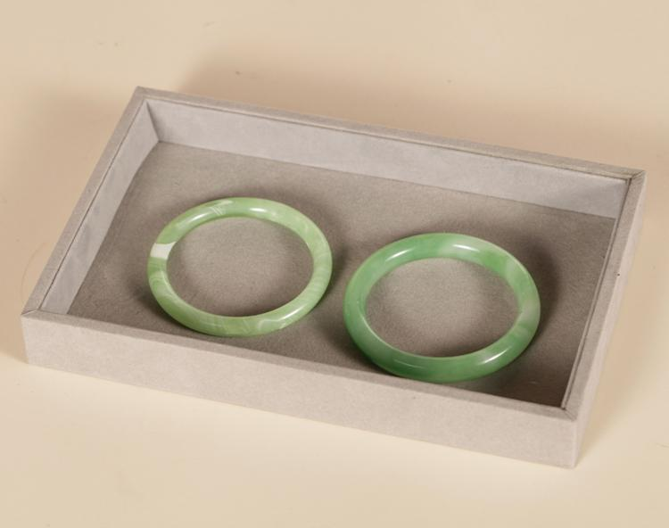 High Quality Flat Velvet Jewelry Display Tray Necklace Ring Bracelet Earring Box Jewelry Diy Finding Storage Case