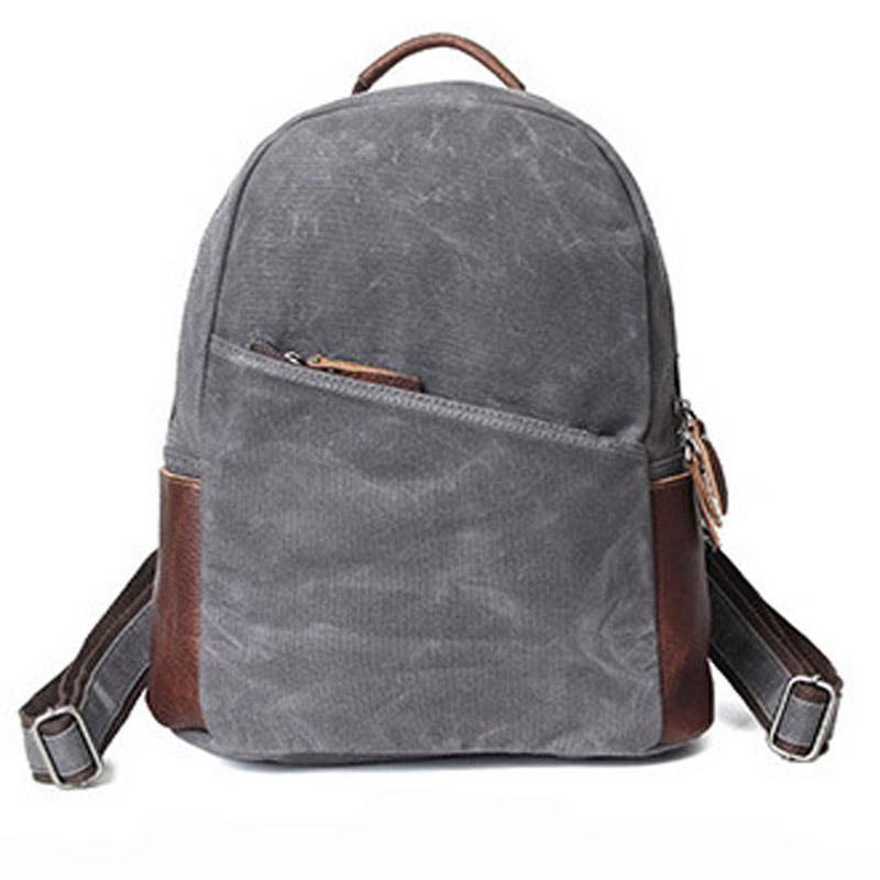 6cf4c38e3b61 Wax Canvas Waterproof 2018 New Shoulder Bag Men And Women Large Capacity  Computer Bag Fashion Wild Casual Leather Backpack Laptop Backpack From  Feetlove