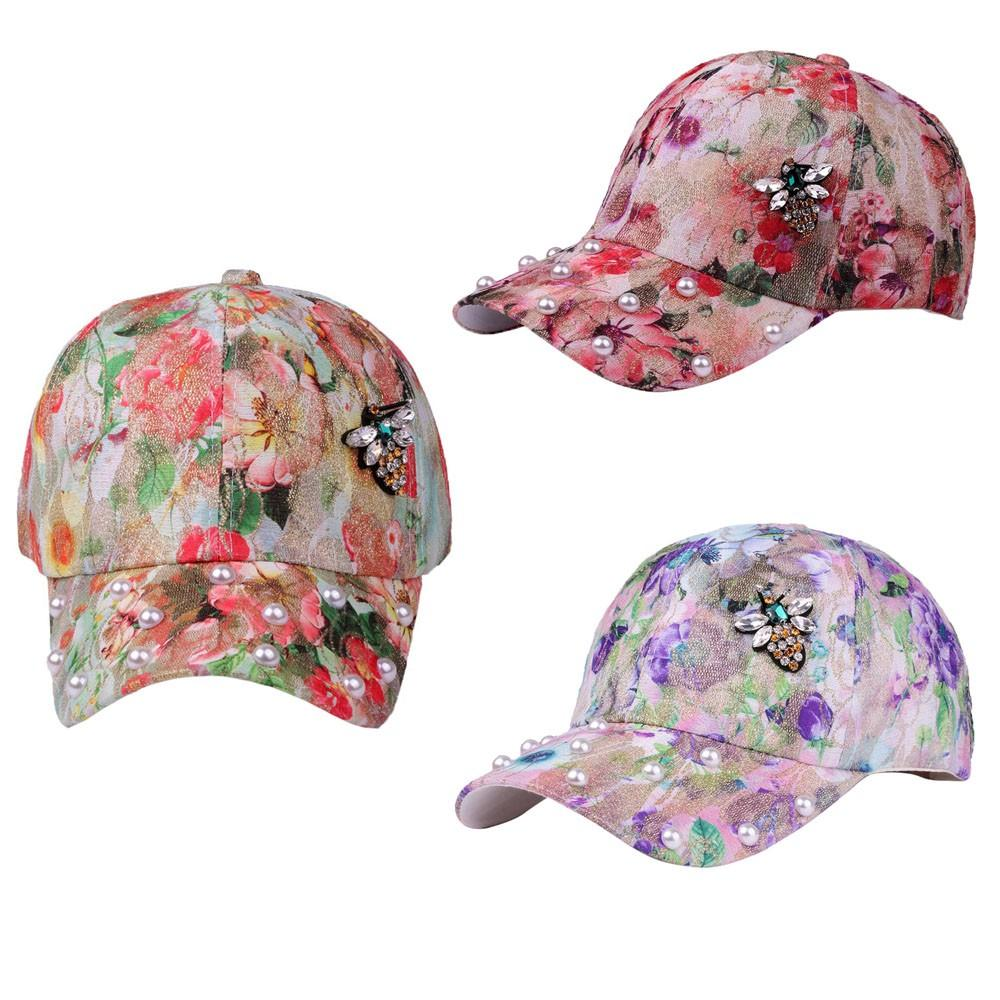 d73a8f23d86 Branded Baseball Cap Men Women Hat Fashion Trends Embroidery Floral Print  Pattern Cotton Adjustable Summer Cap Gorras Mujer Marc Neweracap Cap Hat  From ...