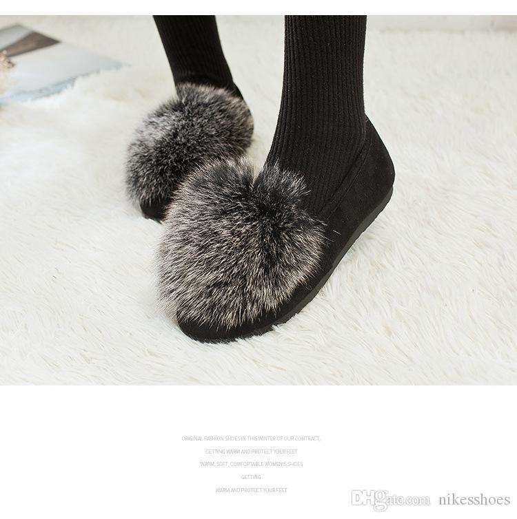 2018 nouvelle femelle coréenne chaude automne et l'hiver paresseux chaussures à pois met des chaussures de neige pied Mao Maoxie