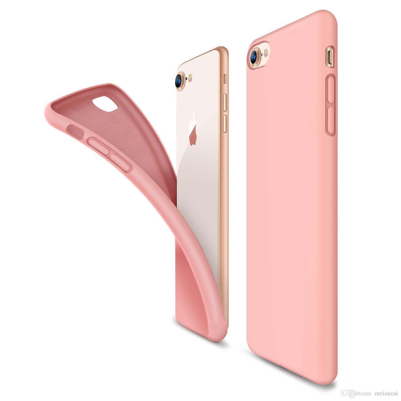 a3c175349a1d8 Compre Para Iphone 8 8 Plus X Cores Doces Macio Tpu Silicone Phone Cases  Para Iphone 7 + 6 S Plus 5 5S Se Case Capa Case De Meinuosi,  0.61    Pt.Dhgate.Com