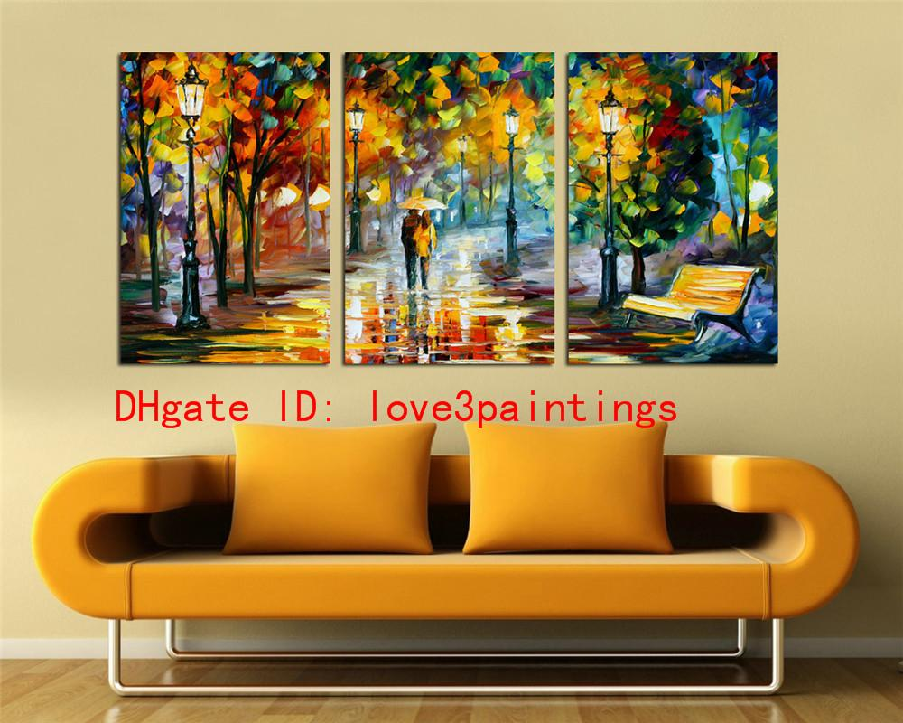 Couples Night Street,Home Decor HD Printed Modern Art Painting on ...
