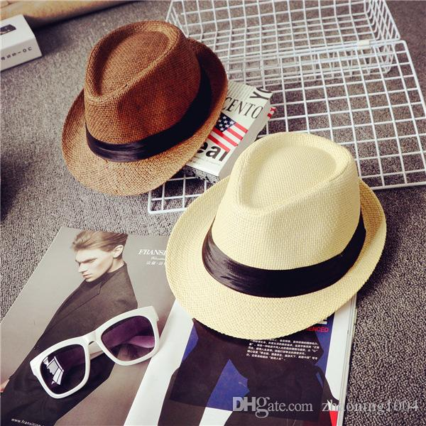 Fashion Designer Wide Brimmed Straw Beach Bucket Hats For Adult Mens ... 9812583cb687