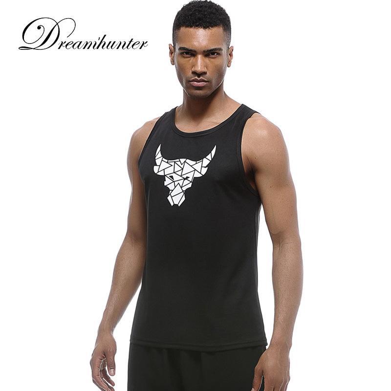 6dfa9b6fa29de 2019 Running Vest Fitness T Shirts For Men Tank Top Gym Sports Shirt  Training Running Sleeveless Tee Tops Basketball Football Jerseys From  Vanilla12