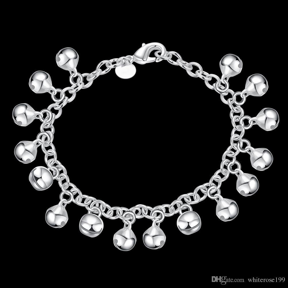 925 Silber M Mädchen Baby Mutter Geschenk Jingle Armband Ball Silber Kette Armband H056