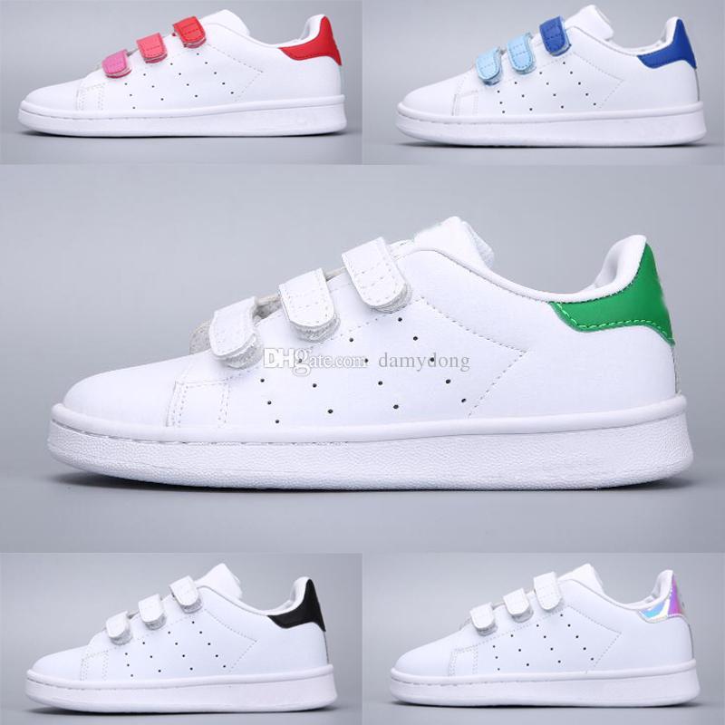 649501b74949 Adidas Stan Smith Superstar niños de la marca calzan los zapatos de las  zapatillas de deporte de las superestrellas originales de los niños del  bebé ...
