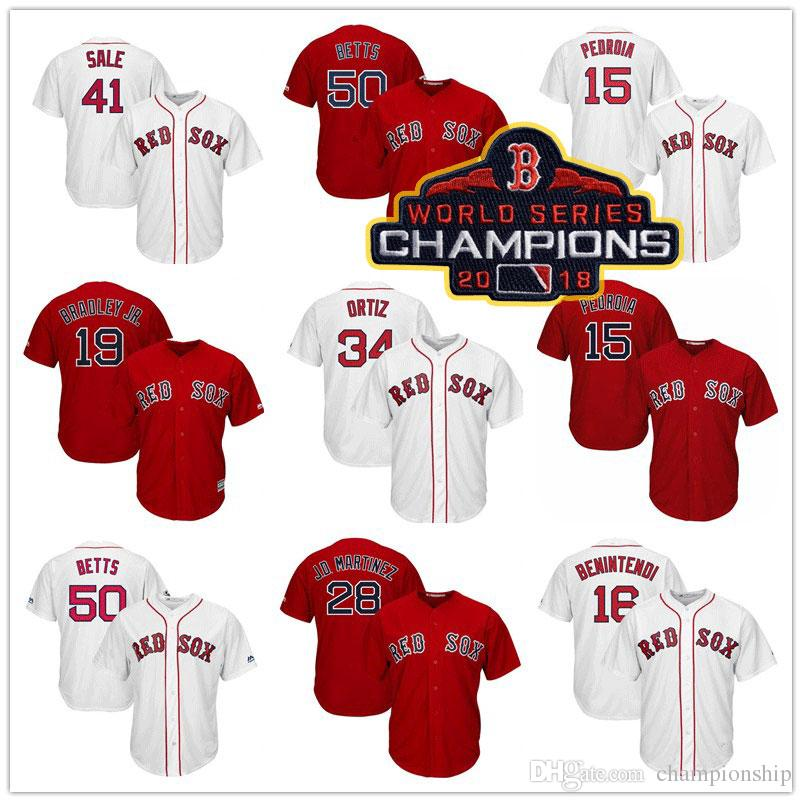 80ad1172db5 clearance 2018 boston red sox champion 50 mookie betts jersey 19 jackie  bradley jr. 28