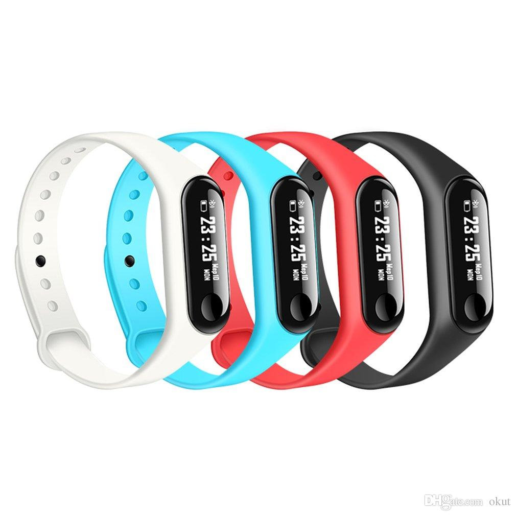 Watch 0 Ip67 Touchscreen 4 Tracker Smart Herzfrequenz Schrittzähler Überwachung Fitness Schlaf 2018 Oled M3 Armband Bt nX0P8wOk