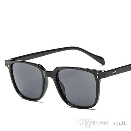 9df689a019 New High Quality Brand Designer Square Sunglasses Men Retro Vintage ...