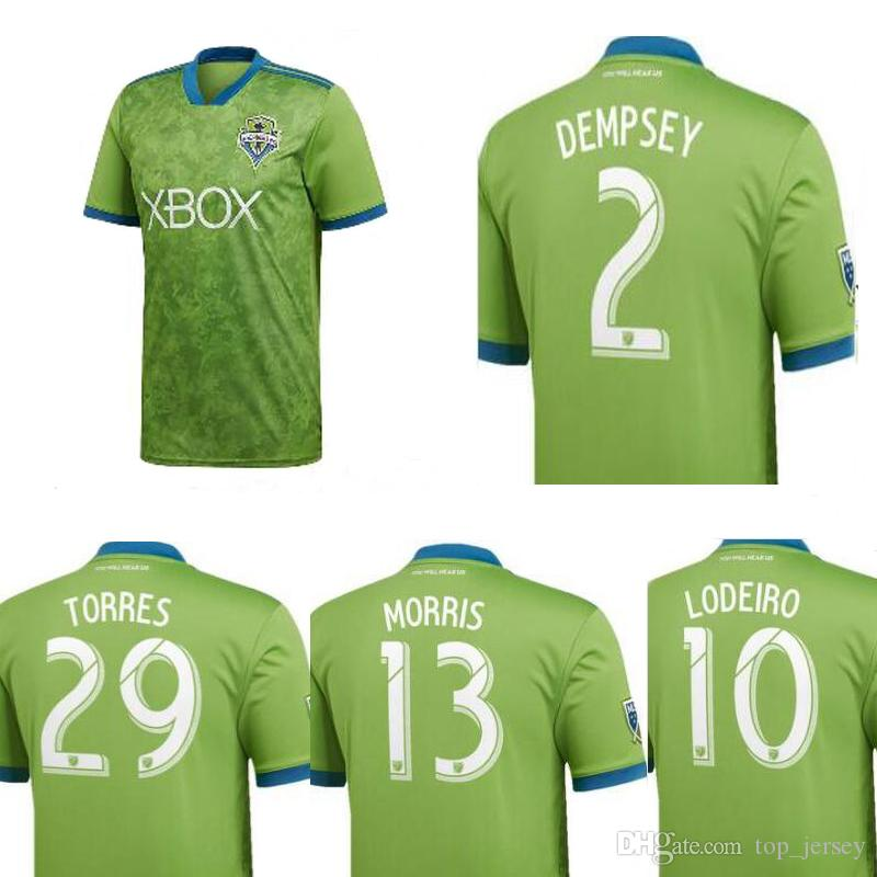 5856afbfba5a8 Camiseta De Seattle Sounders De Primera Calidad 18 19 DEMPSEY MARTINS  Camiseta De Casa Verde Para Hombres Camiseta De Fútbol ALONSO LODEIRO  TORRES 2018 Por ...