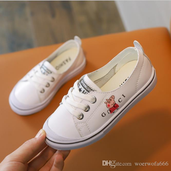 a938f2f9675 Children S Sports Shoes Best Selling Summer Leather New Boy Sports Leisure  Girls 2 Colour Sizes 26 37 Small White Shoes Baby Running Shoes Little Girl  ...