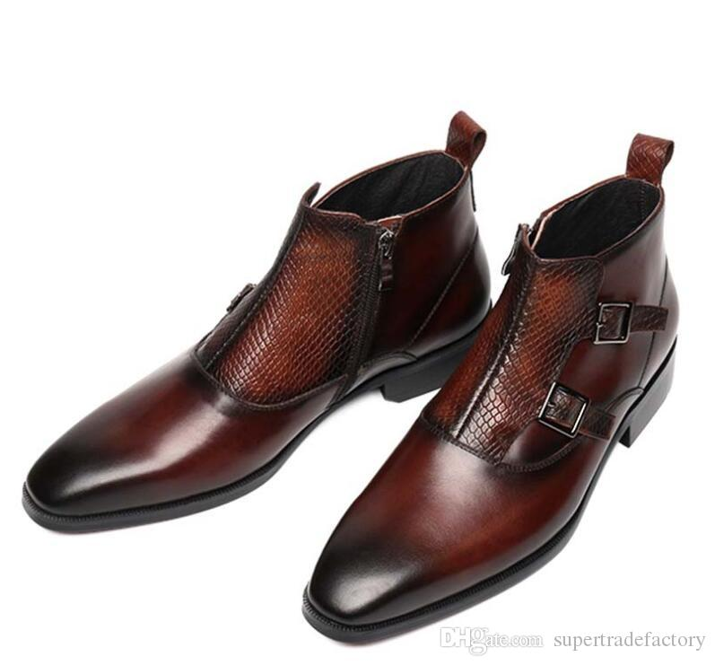 Los Hombres De Shoes Top Smart Casual High Botines Compre zZTq0p
