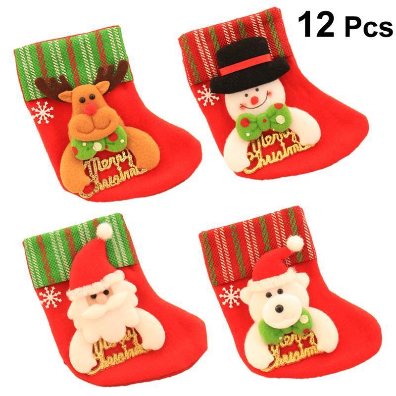 673943f7ec4 Mini Christmas Stockings Felt Colored Festive Decoraitons Ornaments Socks  For Door Fireplace Chrsitams Tree Decoration Christmas Decorations For The  Home ...