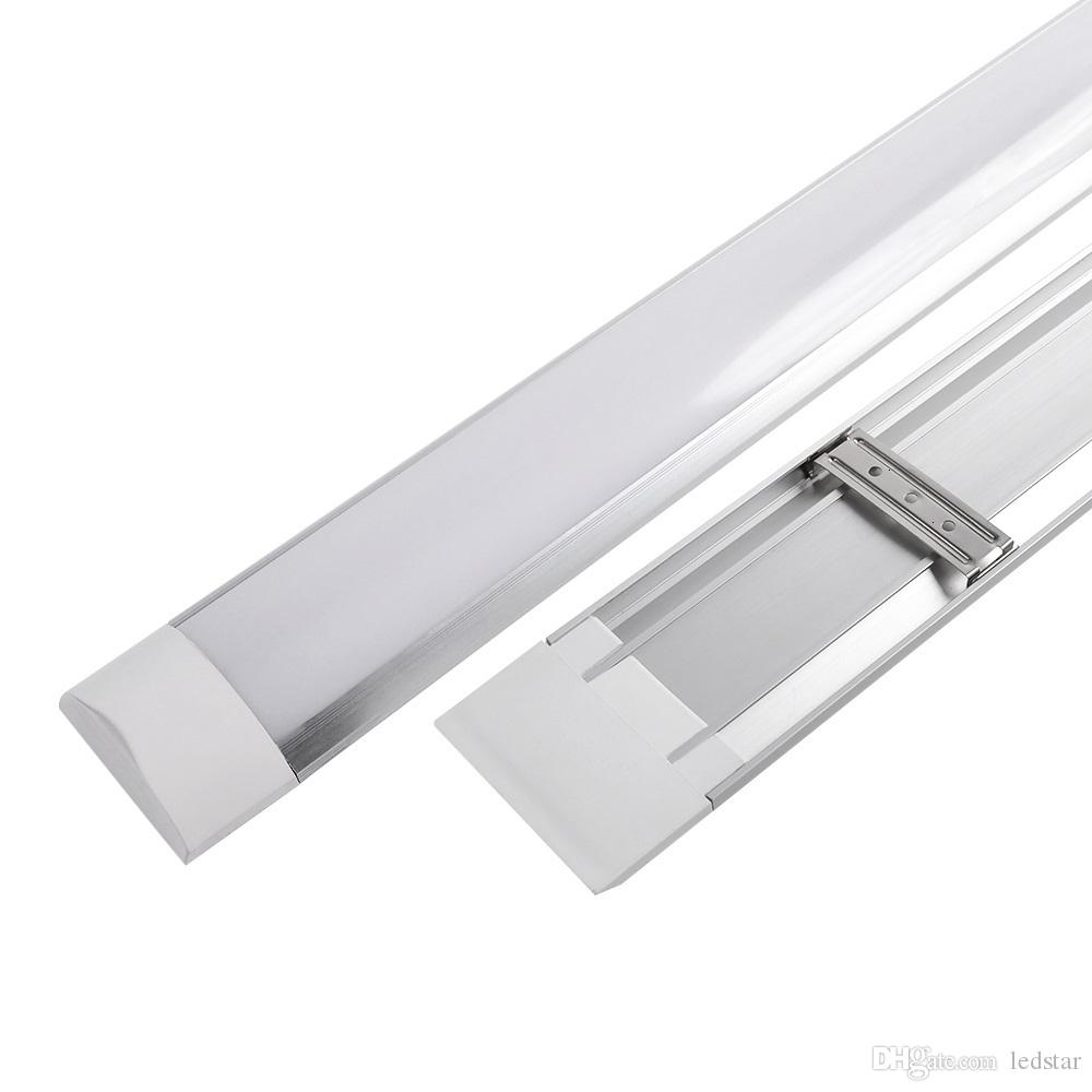 Surface Mounted Led Batten Double Row Tubes Lights 1ft 2ft 3ft 4ft T8 Tube Light Wiring Diagram Fixture Purificati Tri Proof 20w 40w Ac 110 240v Circuit