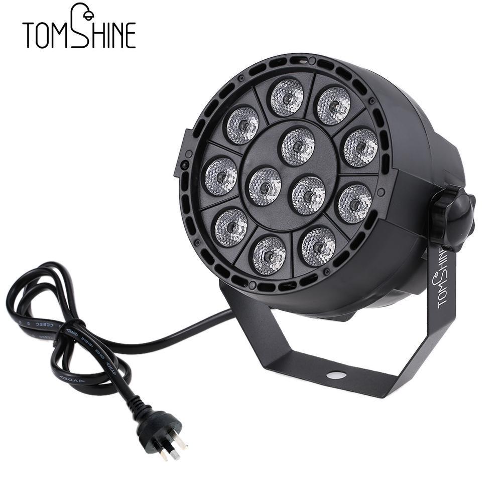 Tomshine 15W 12 LEDs UV Stage Par Light AC110V-220V Auto Sound DMX512 Master-slave 8 Channels For Indoor KTV Pub Bar Wedding