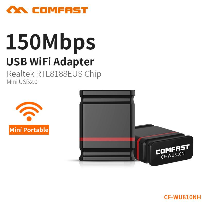 COMFAST 150Mbps Wifi Adapter USB 2.0 Portable WiFi Router Access Point Wireless Adapter PC Network Card Wi-fi dongle CF-WU810NH