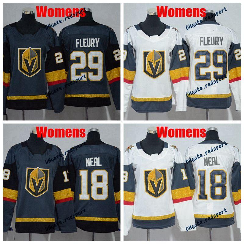 2018 NEW Womens Vegas Golden Knights 29 Marc-Andre Fleury 18 James ... d66dd9720