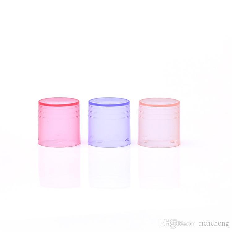 100 pçs / lote 5g diy batom vazio labelo labelo tube bálsamo garrafas recipiente com tampa amostra cosmética colorida
