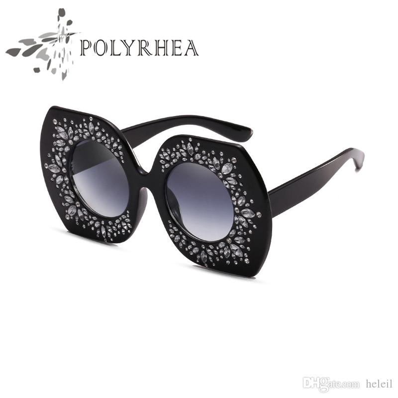 6b2ee2f1edb1 2018 Luxury Brand Sunglasses Large Frame Elegant Special Designer ...