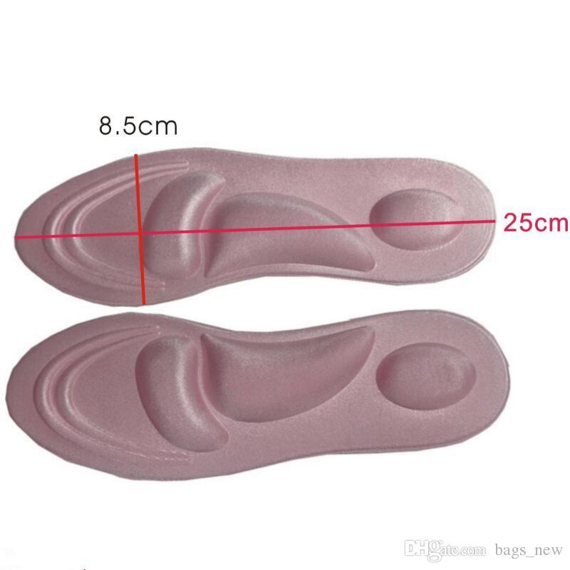 4D Esponja Esportiva Macio Salto Alto Sapato Palmilhas Arch Suporte Ortopédico Massagem Alívio Da Dor Insert Shock Absorber Conforto Almofadas de Almofada