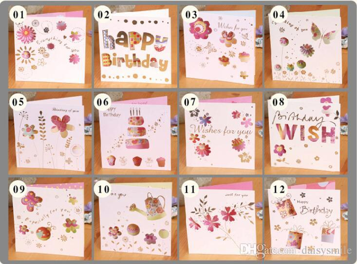 Engraved Card Flowers And Butterfly Style Birthday June 1 ChildrenS Day ValentineS Greeting CARDS With Envelopes