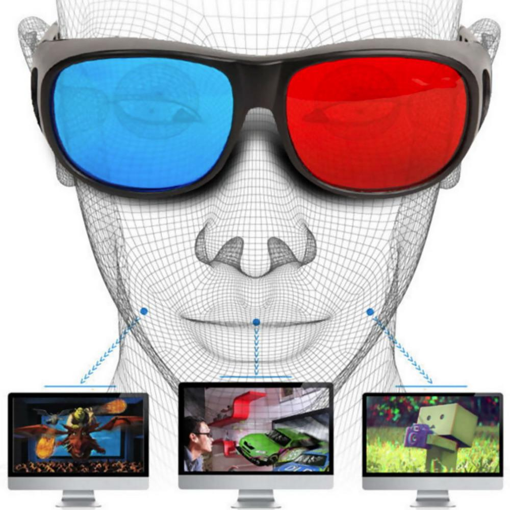 Universal 3D Glasses TV Movie Dimensional Anaglyph Video Frame Glasses DVD Game Anaglyph 3D Plastic Hot Promotion