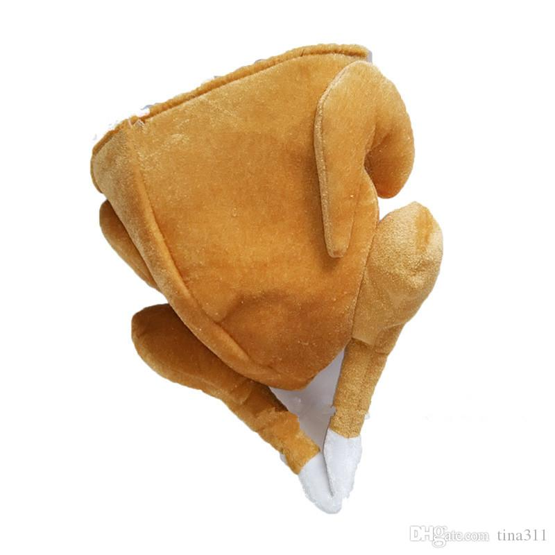 Turkey Hats Funny Plush Thanksgiving Day Halloween Turkey Hat Outfit Adult Halloween Costume Accessory Gift CC638