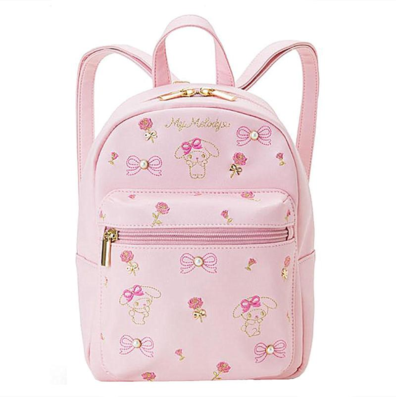 84f2c650359b Cute Hello Kitty My Melody PU Leather Small Mini Backpack Pink Blue Bag  Women Girls Fashion Back Pack Rucksack Travel Bag Leather Backpack Laptop  Backpack ...