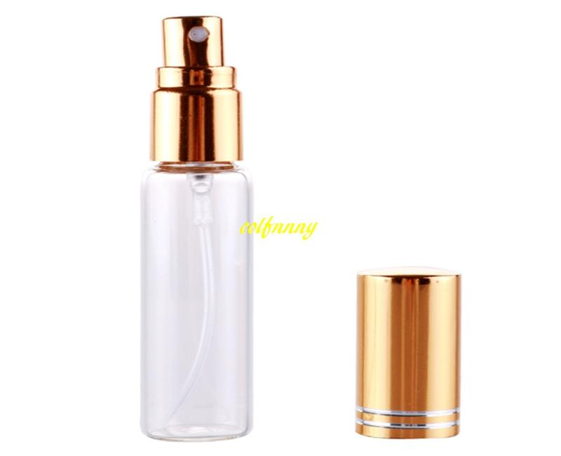 18x82mm size 10ML Transparent Glass Spray Perfume bottle Emtpy Refillable bottles With Full cover cutting alumium cap