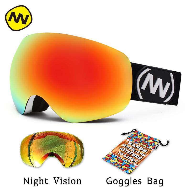 9877694fdef NANDN Brand Ski Goggles Double Lens Large Spherical UV400 Anti-fog Adult Snowboard  Skiing Glasses Women Men Snow Eyewear Skiing Eyewear Cheap Skiing Eyewear  ...