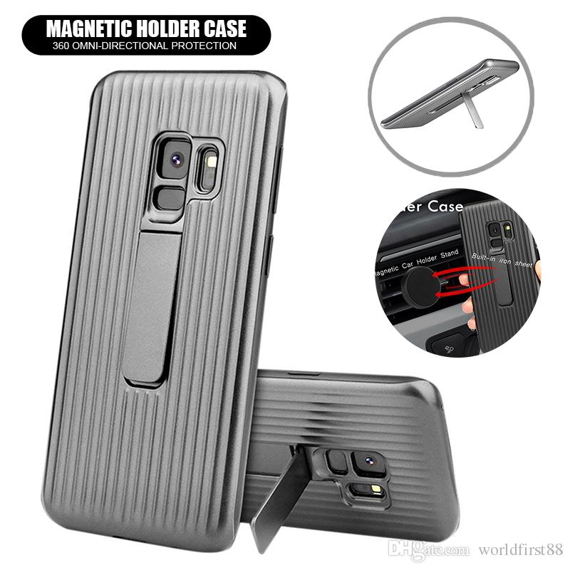 low cost c842b d7397 Galaxy S9 Plus Case Magnetic Kickstand Phone Case Shockproof Holder  Protective Cases For iPhone X 8 7 6 Plus Samsung S8 S7 Note8