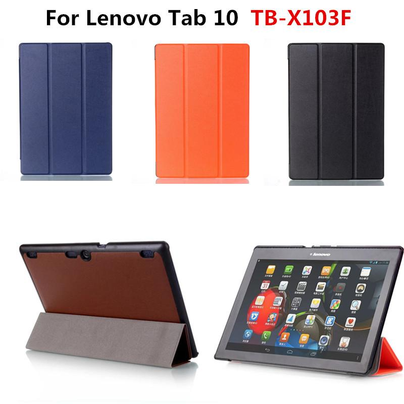 new product d0b27 7d825 New Arrival pu Leather Slim cover Stand case For Lenovo Tab 10 TB-X103F  X103F 10.1 Tablet PC funda With Magnetic Cases
