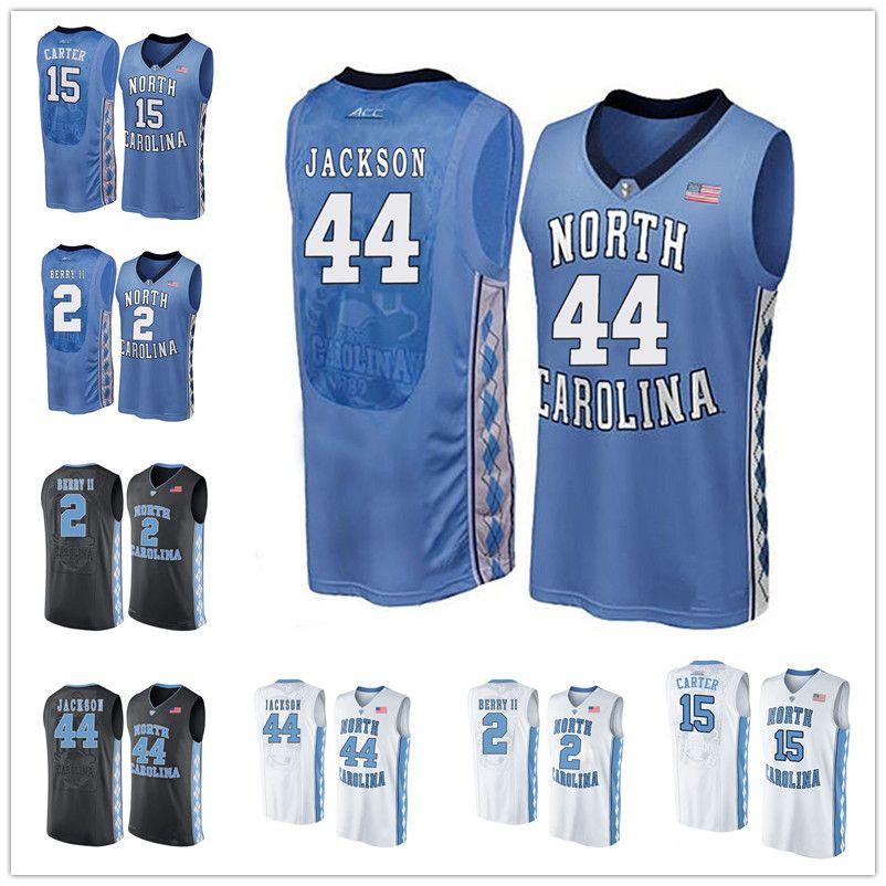2018 North Carolina Tar Heels #5 Ty Lawson 30 Rasheed Wallace 33 Antawn  Jamison 44 Justin Jackson Ncaa College Basketball Blue Black White Jersey  From ...