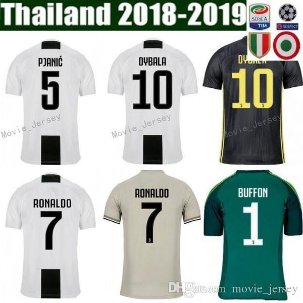 49ba4be0163 2019 2018 2019 Soccer FC Juventus Jersey Men Team White 20 CANCELO 5 PJANIC  6 KHEDIRA 11 COSTA 3 CHIELLINI Football Shirt Kits Uniform From  Movie jersey