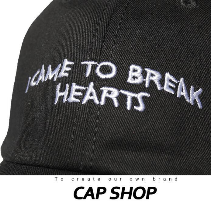 DHL Designer Baseball Cap I Came to Break Hearts dad hat Trucker Hats Lovers Snapbacks Fitted Caps Ball Hats Skateboard Hip Hop Hat