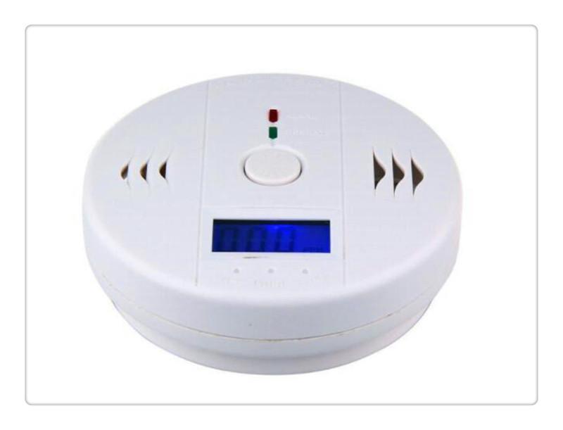Freies Verschiffen Kohlenmonoxid Tester Alarm Warnung Sensor Detektor Gas Brandvergiftung Detektoren Sicherheitsüberwachung Sicherheit Alarmanlagen